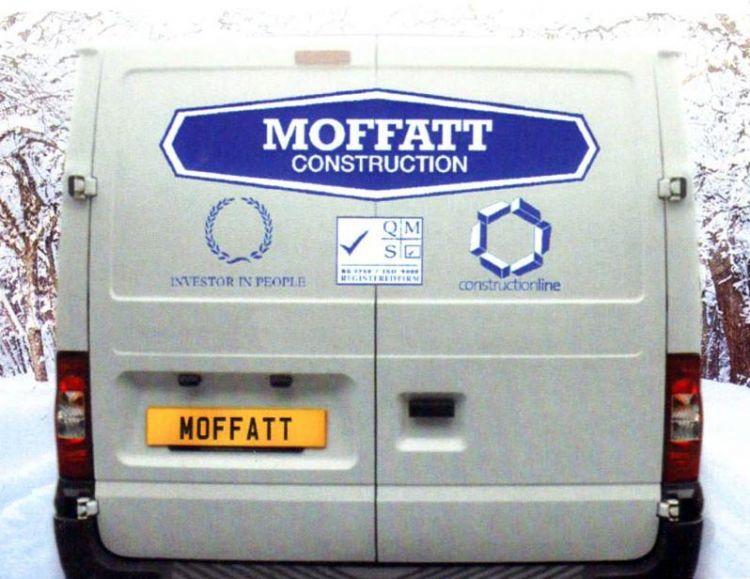 Moffatt car back logos